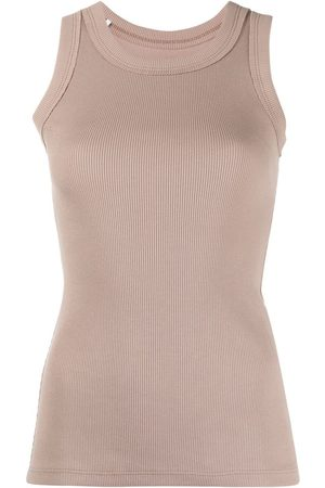 Styland Ribbed-knit tank top - Neutrals