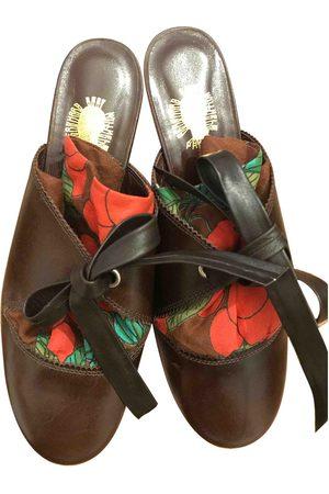 BERNHARD WILLHELM Women Mules - \N Leather Mules & Clogs for Women
