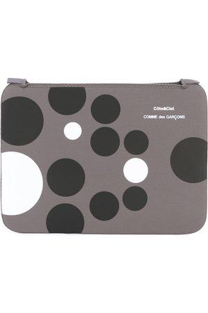 """Comme Des Garçons Wallet Laptop Bags - Circle print MacBook Pro 15"""" case - Grey"""
