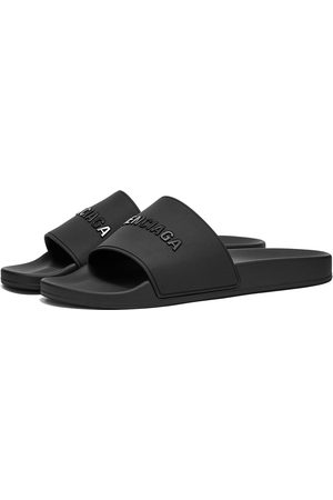 Balenciaga Men Sandals - Tonal Logo Pool Slide