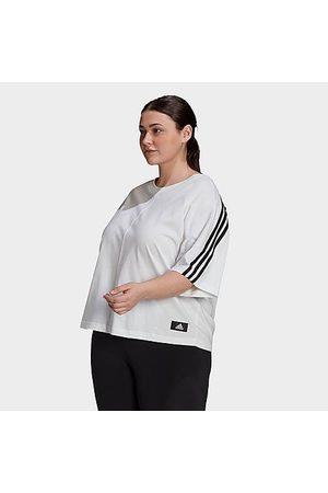 adidas Women Sports T-shirts - Women's Sportswear Future Icons 3-Stripes T-Shirt (Plus