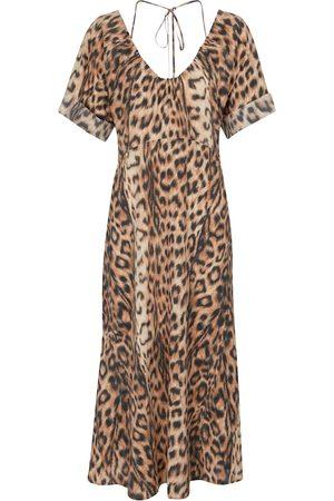 Victoria Beckham Leopard-print midi dress