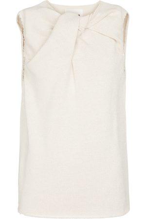 Jil Sander Knotted cotton-blend top