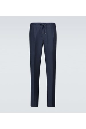LARDINI Drawstring single-pleated pants