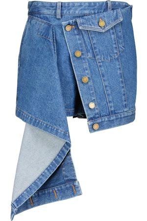 MONSE Asymmetric denim miniskirt