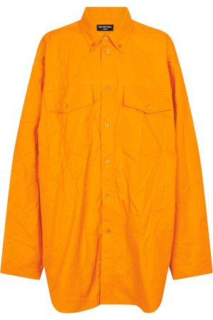 Balenciaga Oversized cotton twill shirt