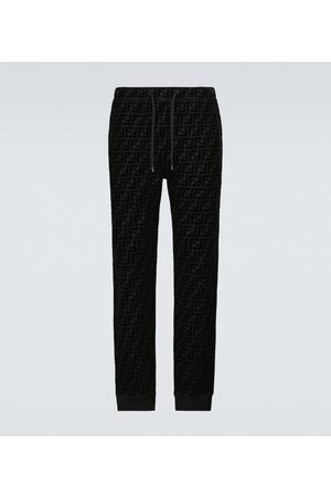 Fendi FF velvet sweatpants