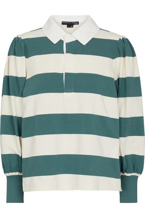 VERONICA BEARD Presto striped cotton top