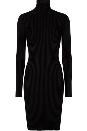 Wolford Ribbed-knit merino wool and cotton minidress