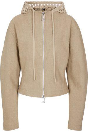 Bottega Veneta Stretch-linen hoodie