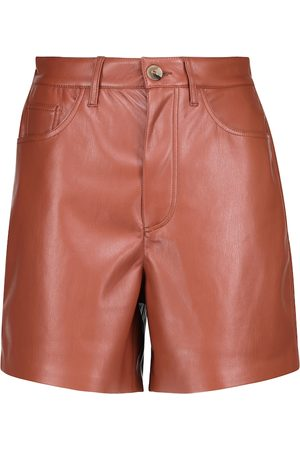 Nanushka Leana faux leather shorts