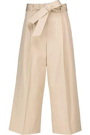 Max Mara Women Wide Leg Pants - Ghisa wide-leg cropped cotton pants