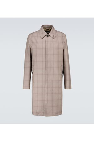CARUSO Prince of Wales checked trench coat