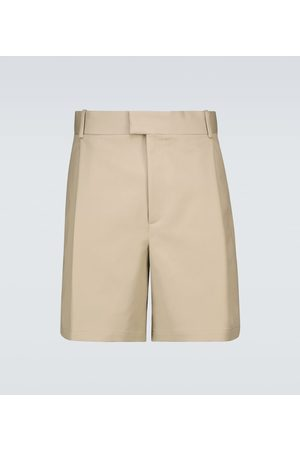 Bottega Veneta Double-faced cotton shorts