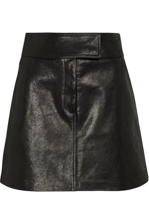 Khaite Giulia leather miniskirt