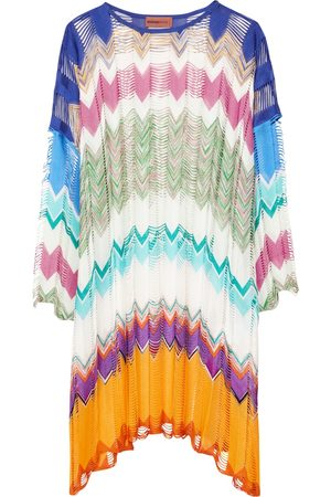 Missoni Women Beach Dresses - Zig-zag knit kaftan