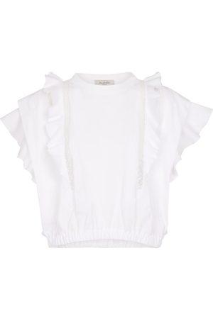 VALENTINO Ruffled cotton T-shirt