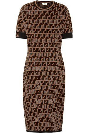 Fendi Stretch-knit midi dress