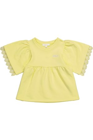 Chloé Cotton-blend jersey top