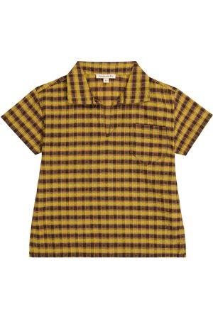 Caramel Albacore checked cotton shirt