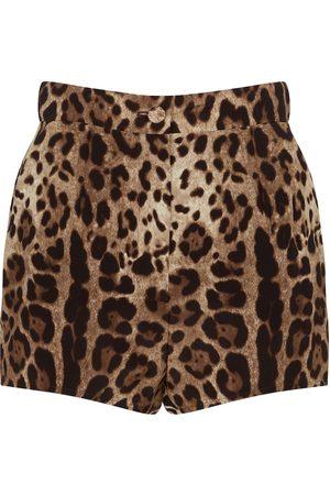 Dolce & Gabbana Leopard-print silk shorts