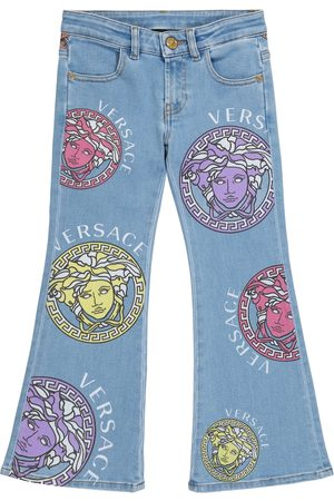 VERSACE Logo flared jeans