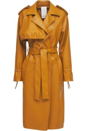 THEMOIRÈ Women Trench Coats - Faux Leather Trench Coat