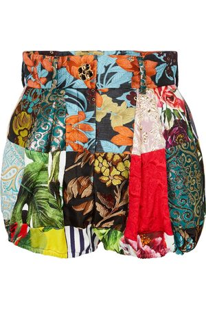 Dolce & Gabbana High-rise patchwork shorts