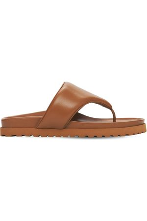 GIA Women Sandals - 20mm Padded Leather Thong Sandals