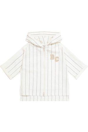 Brunello Cucinelli Striped stretch-cotton hoodie