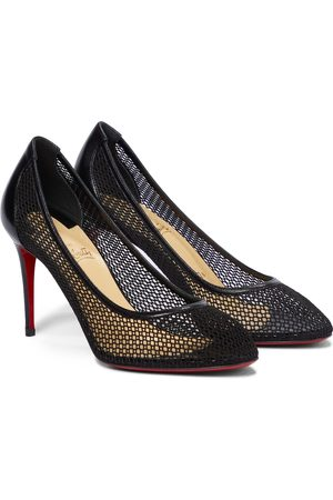 Christian Louboutin Filomena 85 leather-trimmed pumps