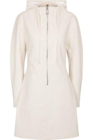 Bottega Veneta Hooded stretch-linen canvas minidress