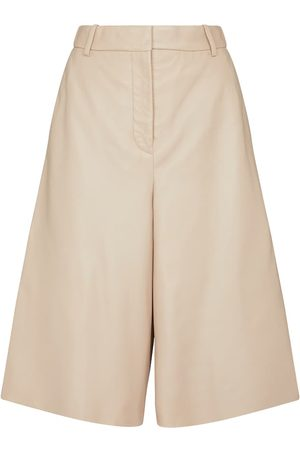Joseph Teresa leather Bermuda shorts