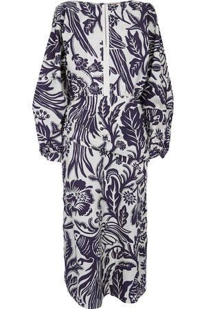 JOHANNA ORTIZ Eterna Pertenecia printed cotton midi dress