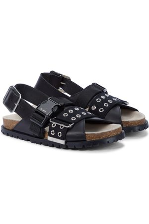 SACAI X A.P.C. Jules leather sandals
