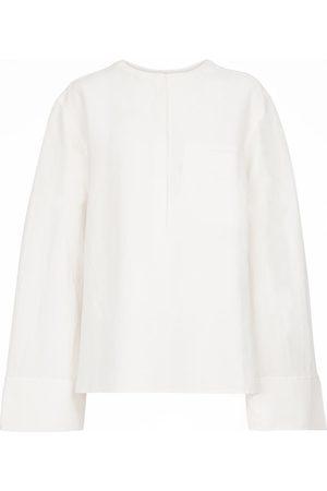 Totême Linen-blend blouse