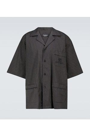 Balenciaga Checked short-sleeved pajama shirt