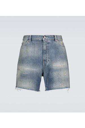 Saint Laurent Destroyed California denim shorts