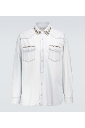 Golden Goose Axel bleached denim shirt