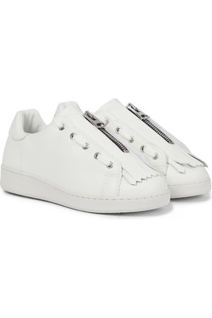 SACAI X A.P.C. Julietta leather sneakers