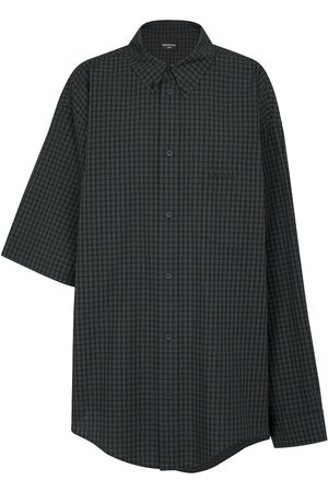 Balenciaga Asymmetric checked cotton shirt