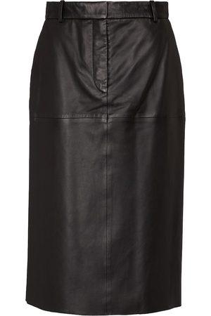 Joseph Salva leather midi skirt