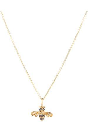 Sydney Evan Bumblebee 14kt necklace with diamonds and sapphires