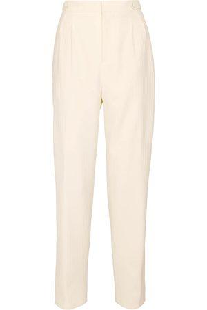 Saint Laurent High-rise wide-leg wool pants