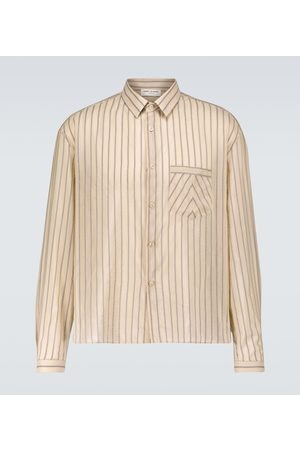 Saint Laurent Striped long-sleeved shirt