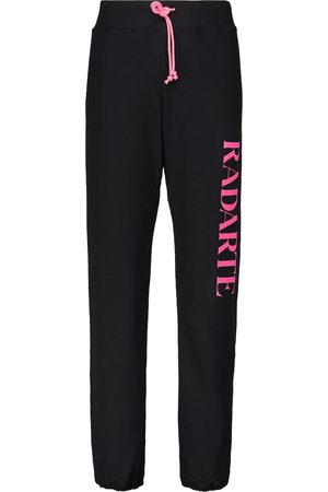 RODARTE Logo cotton-blend jersey sweatpants