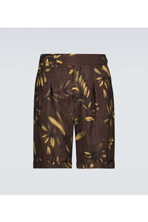 Nanushka Nagi floral belted shorts