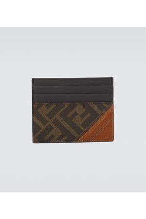 Fendi Logo leather cardholder