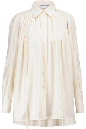 Victoria Beckham Gathered silk blouse