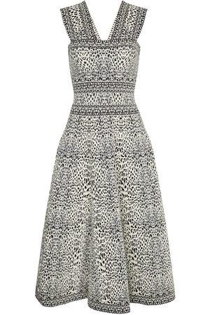 Alaïa Printed jacquard knit dress